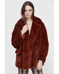 Free People Kate Faux Fur Coat - Brown