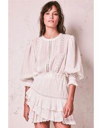 LoveShackFancy - Lorelei Dress Ivory - Lyst