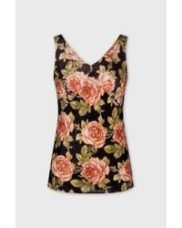 Paco Rabanne Printed Satin Tank Top - Multicolor