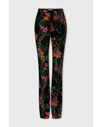 Paco Rabanne Straight Velvet Pants - Multicolor