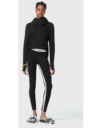 Paco Rabanne Bodyline Jersey Hooded Sweatshirt - Black