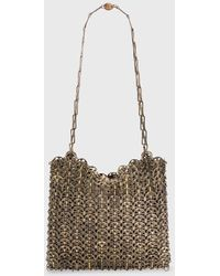 Paco Rabanne Iconic 1969 Chainmail Bag In Antique Gold - Metallic