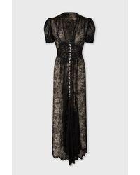 Paco Rabanne Long Black Lace Dress
