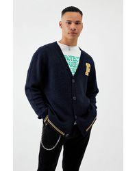 PacSun Arbor Button Up Knit Cardigan - Blue