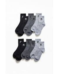 adidas Originals Trefoil Assorted 6-pack Socks, Gray
