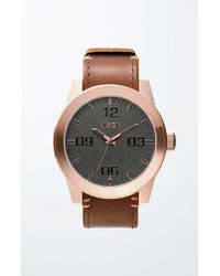 Nixon - Rose Gold & Brown Corporal Watch - Lyst