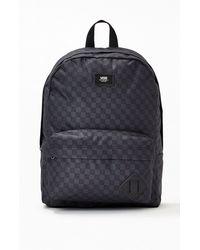 Vans Charcoal Checker Old Skool Iii Backpack - Black