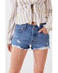 Levi's - 501 Medium Indigo Denim Shorts - Lyst