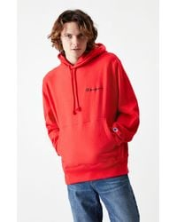 Champion - Script Embroidered Reverse Weave Pullover Hoodie - Lyst