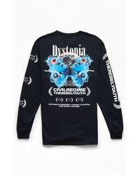 Civil Dystopia Long Sleeve T-shirt - Black