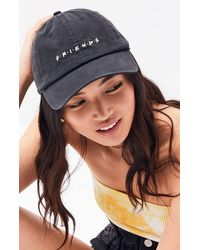 Bioworld Friends Womens Denim Strapback Hat - Black