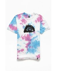 Huf Tie-dyed Everlasting Gaze Wash T-shirt - Blue
