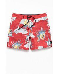 "Vans Arachnofloria 17"" Boardshorts - Red"