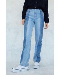 PacSun Eco Two-tone '90s Boyfriend Jeans - Blue