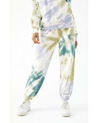 PacSun Jewel Tie Dye Sweatpants - Green