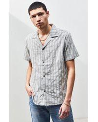 Rhythm Vacation Stripe Short Sleeve Button Up Shirt - Multicolor