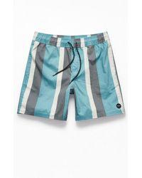 "RVCA Eclectic 17"" Swim Trunks - Blue"