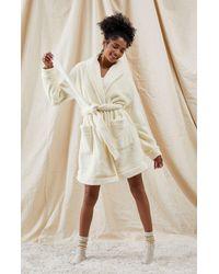 LA Hearts by PacSun Lounge Plush Robe - White