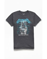 PacSun Metallica Ride The Lightning T-shirt - Gray