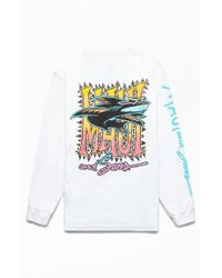 Maui & Sons Rough Edges Long Sleeve T-shirt - White