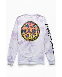Maui & Sons Tie-dyed Blaster Long Sleeve T-shirt - Purple