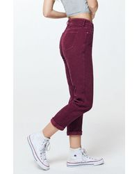 PacSun Berry Corduroy Mom Jeans - Purple