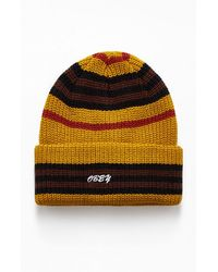 Obey Striped Beanie - Multicolor