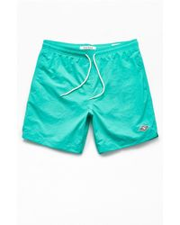 "PacSun Solid 17"" Swim Trunks - Green"