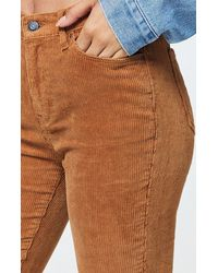 PacSun Spice Corduroy High Waisted Jeggings - Brown