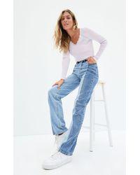PacSun Two-tone '90s Boyfriend Jeans - Blue