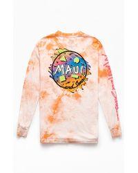 Maui & Sons Tie-dyed Bam Bam Long Sleeve T-shirt - Orange