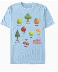 PacSun Fruit And Trees T-shirt - Blue