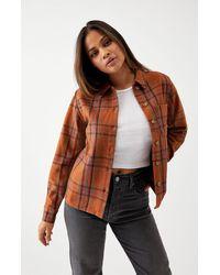 Rhythm Overnight Flannel Shirt - Brown