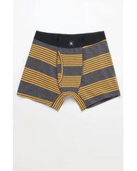 Richer Poorer - Thurston Stripe Charcoal Cotton Boxers - Lyst