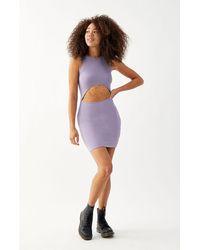 Kendall + Kylie Cutout Bodycon Dress - Purple