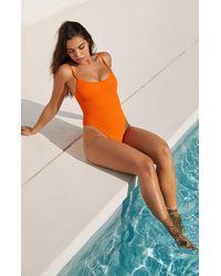 LA Hearts by PacSun Orange Cora Scrunch One Piece Swimsuit