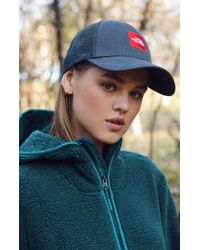 The North Face - Box Logo Trucker Hat - Lyst