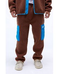 Huf Fort Point Sherpa Pants - Brown