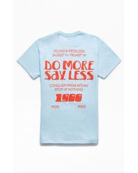 Young & Reckless Say Less T-shirt - Blue