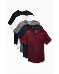 PS Basics Five-pack Warden Scallop T-shirts - Multicolor