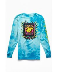 Maui & Sons Tie-dyed Oxide Remix Long Sleeve T-shirt - Blue