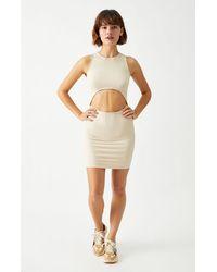 Kendall + Kylie Cutout Bodycon Dress - Brown
