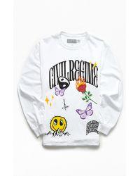 Civil Still Dreaming Long Sleeve T-shirt - White