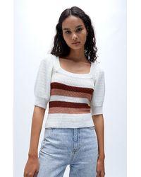 MINKPINK Kashan Stripe Knit Sweater - Multicolor