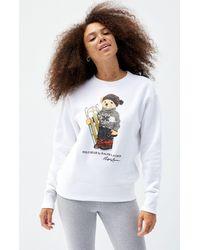 Polo Ralph Lauren Sled Bear Sweatshirt - White