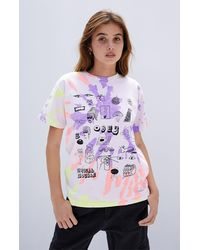 Obey Tropical Trouble T-shirt - Purple