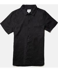Rhythm Classic Linen Camp Shirt - Black
