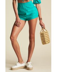 Billabong X Sincerely Jules Teal Keep It Simple Shorts - Blue
