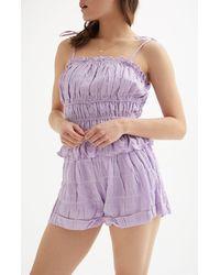 Lucca Couture Susannah Cuffed Shorts - Purple