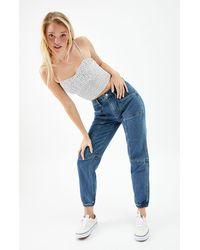 PacSun Dark Blue Seamed Sweatpants